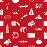 Richness and money theme red seamless pattern. Eps10 Royalty Free Stock Images