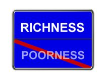 Richness and poorness sign Stock Photos
