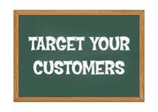 Richt uw van het bedrijfs klantenbord bericht Vectorillustratie royalty-vrije illustratie