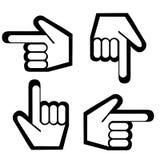 Richtend grafische vinger Stock Foto's