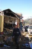 richter землетрясения 8 Чили Стоковые Изображения