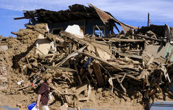 Richter 8.8 earthquake in Chile Stock Photos