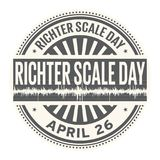 Richter Scale Day Stock Photo