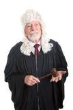 Richter-tragende Perücke Stockbild