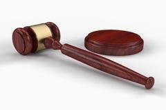 Richterhammer, -holzhammer oder -hammer Lizenzfreies Stockbild