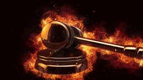 Richterhammerfeuerflammen-Explosion Burning explodieren Lizenzfreie Stockfotos