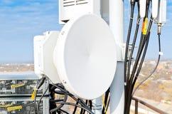 Richtfunkstation der Antenne Lizenzfreies Stockbild