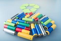 Richtige Beseitigung der toxischer Substanz zur Bodenumwelt und -batterien Wiederverwertung von schädlichen Stoffen für ökologisc lizenzfreies stockfoto