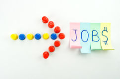 Richting die tot de banen leidt - vacature Stock Foto
