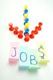 Richting die tot de banen leidt - vacature Stock Afbeeldingen