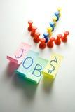 Richting die tot de banen leidt - werkgelegenheid Royalty-vrije Stock Afbeelding
