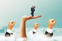 Richting en succesconcept stock afbeelding