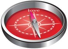 Richting van liefde Stock Foto