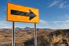 Richting Verkeersteken in Zuidelijk Arizona, de V.S. stock afbeeldingen