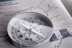 Richting voor rijkdom Stock Foto's