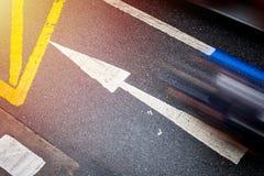 Richting vooruit met het effect, het Doel en Succe van het langzame snelheidsblind royalty-vrije stock foto