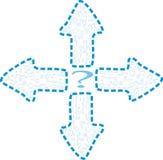 Richtingen, welke manier? vector illustratie
