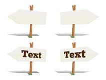 Richtingswijzer met tekst vectorillustratie Stock Afbeelding