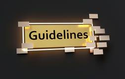 Richtlijnen modern gouden teken vector illustratie