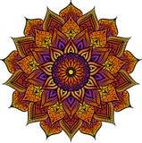 Richtte het Mandala geometrische ronde ornament, stammen etnisch Arabisch Indisch motief, acht cirkel abstract bloemenpatroon royalty-vrije illustratie