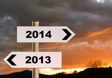 Richtung 2014 des neuen Jahres - Geschäft, Lebenkonzept Stockbild