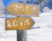 Richtung täfelt 2014-2015 Stockbilder