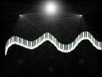 Richtung von Musik Stockbild