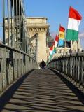 In Richtung zu Budapest Stockbild