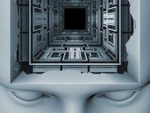 In Richtung zu Digital-Verstand Stockfotografie