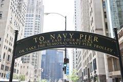 In Richtung zum Marine-Pier Stockfotografie