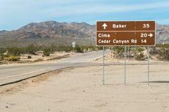 Richtungen von Kelso, Kalifornien lizenzfreies stockfoto