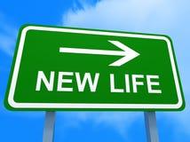 Richtungen zu einer neuen Lebensdauer Stockbilder