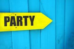 Richtungen zur Partei stockfotos