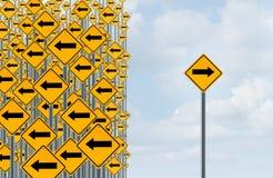 Richtungs-Individualität Stockfoto
