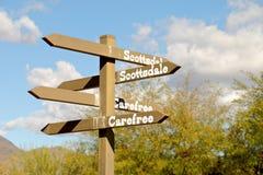Richtungs unterzeichnen Sie herein Höhlen-Nebenfluss, Arizona Lizenzfreie Stockbilder