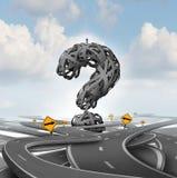 Richtungs-Verwirrungs-Frage lizenzfreie abbildung