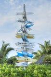 Richtungsunabhängiges touristisches Zeichen Lizenzfreies Stockfoto