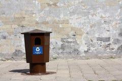 Riciclaggio comunale dei contenitori Immagine Stock Libera da Diritti