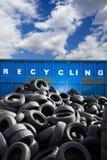 Riciclaggio contenitore, i busines e dell'ecologia immagini stock