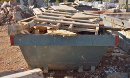 Riciclaggio del contenitore con il legno Fotografie Stock Libere da Diritti