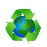 Riciclaggio del globo della terra Immagini Stock