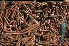 Riciclaggio del rame Fotografia Stock