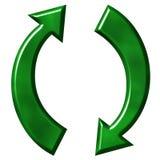 Riciclaggio del simbolo Fotografie Stock