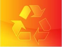 Riciclaggio del simbolo di eco Fotografie Stock