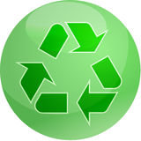 Riciclaggio del simbolo di eco Immagini Stock