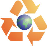 Riciclaggio del simbolo di eco Immagine Stock