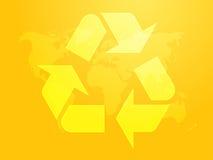 Riciclaggio del simbolo di eco Fotografia Stock