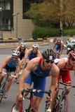 Riciclaggio del Triathlon Fotografia Stock