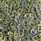 Riciclaggio dell'anello di alluminio Fotografie Stock
