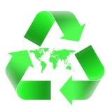 Riciclaggio dell'emblema Fotografia Stock Libera da Diritti